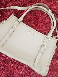 Charles & Keith Nude Bag