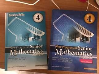 New Progress in Senior Mathematics 4 (teacher's edition with solution guide)
