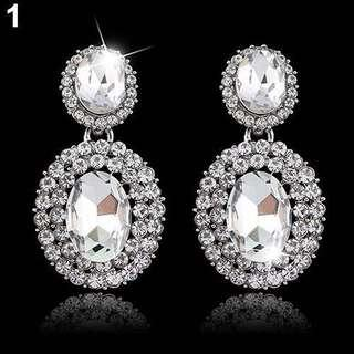 Rhinestone heavy earrings