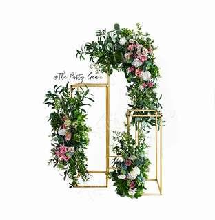 Floral Gold Stand for wedding reception