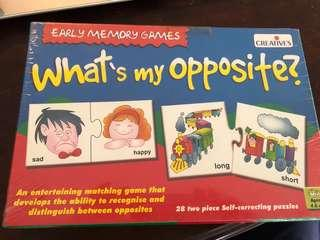 Creatives Early Memory Game : what's my opposite?