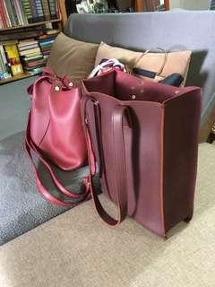 Maroon Document Bag [ SOLD ]