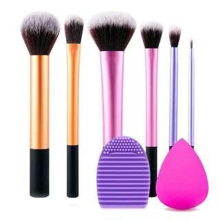Cosmetic Makeup Brush Set With Brush Egg And Beauty Puff Blender