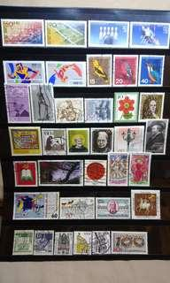 West Germany Stamps lot of 36 pcs 1970s to 1980s mint sets attractive