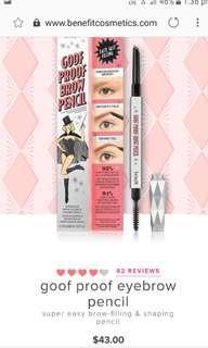 NEW Benefit brow pencil