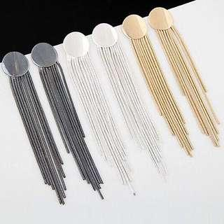 Tassel Korean earrings