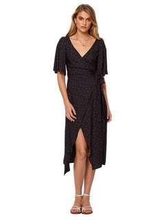 Bec & Bridge Mon Bebe Wrap Midi Dress Size 6