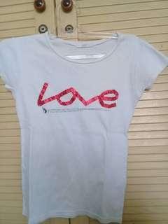 Kaos Korea tulisan LOVE