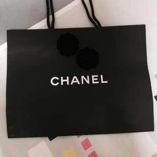 💯Limited Chanel Paperbag Camellia Navy Blue Flower