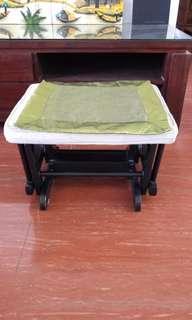 House moving - foot stool, rocking leg rest, ottoman.