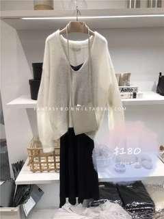 V neck Wool Sweater V領 毛衫
