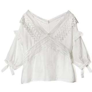 日牌GRL 刺繡 蕾絲 lace 上衣 top