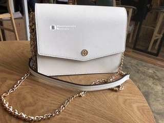 ON SALES🎉Tory Burch Robinson Convertible Shoulder Bag- white