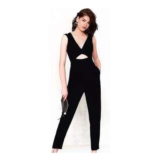 Nastygal Inspired V Neck Cut Out Jumpsuit