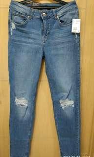 Celana Jeans Cewek H&M Slim Boyfriend Low Waist Size 36
