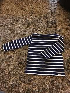 Baby uniqlo long sleeve striped knitted top
