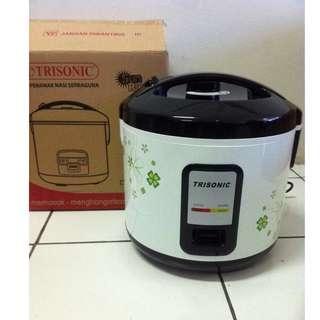 Jual Murah Rice Cooker Trisonik 1.2 LIter Alat Penanak Nasi Dengan Fungsi 3 Dalam 1 Alat