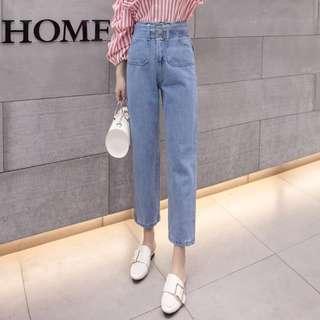 Boyfriend Jeans with Belt