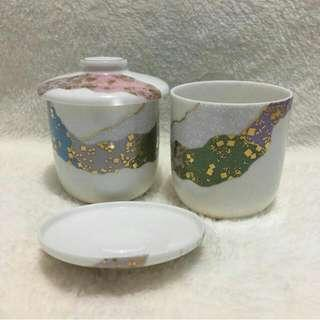 Ceramic Tea cup with lid (80 each / 150 both)