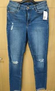 Celana Jeans Cewek H&M Super Skinny Regular Waist Size 40