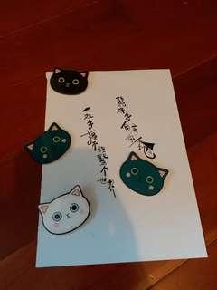 😾貓頭磁石貼 $120/4個