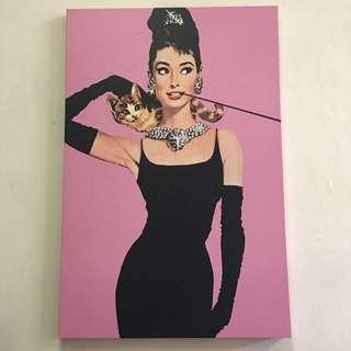 Audrey hepburn big painting