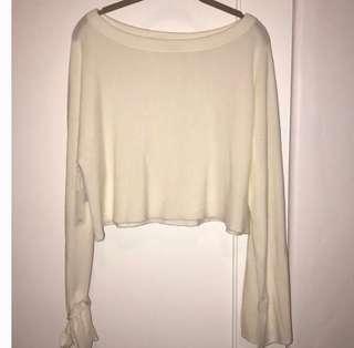 Aritzia Baylen Sweater in Avorio Size XS