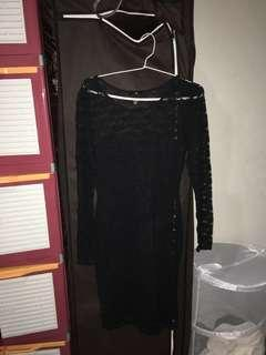 SALE H&M Halloween Black Dress