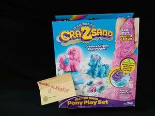 Brandnew Cra.Z.Sand Glitter Sand Pony Play Set for 4yo++. NEVER BEEN OPENED NOR USED