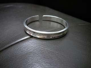 999 Silver Love Forever Open Ended Bangle 千足银永恒的爱手环 #OCT10