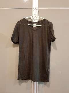 Zara TRF t-shirt + tank top (charcoal) #mfeb20