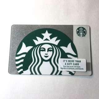 美國代購Starbucks card星巴克卡