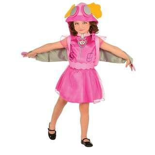 Paw Patrol Skye Costume with wings and bag for kids girls birthday party cosplay Halloween