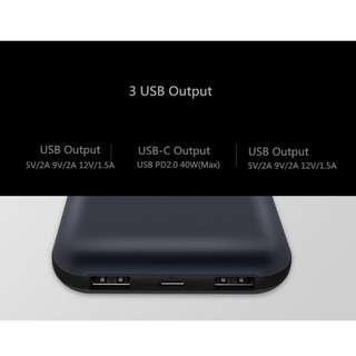 XiaoMi ZMI PD/USB-C 15000mAh Power Bank (iP8/X/MacBook)