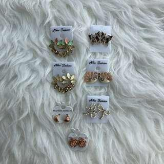 (4 for 10) Sweet cute earrings 4 pairs