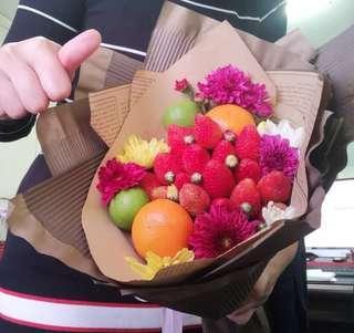 Fruit and veggie bouquet