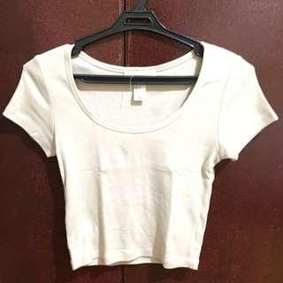 Forever 21 beige crop top