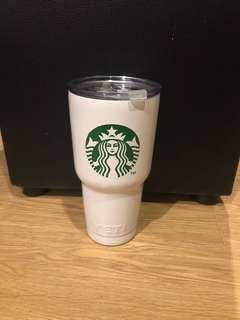 Rare White Starbucks Yeti 30oz