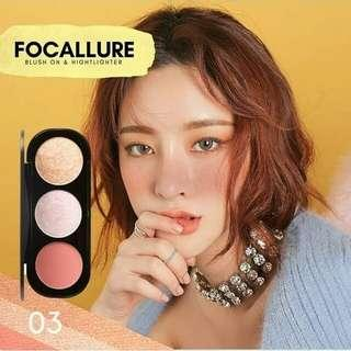 Focallure Trio Blush On & Highlighter no 03