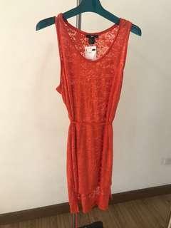 H&M Orange Dress/Cover Up