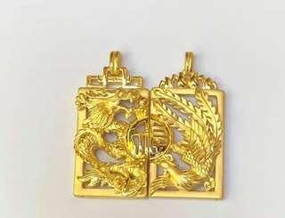 AUTHENTIC 24K HK GOLD PENDANT