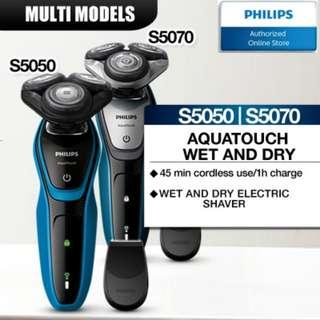 Philips AquaTouch Wet and Dry Electric Shaver S5050 | S5070