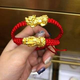 AUTHENTIC 24K HK GOLD PIYAO