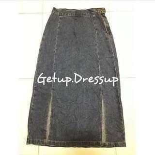 Maong Maxi Skirt