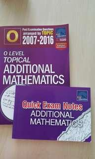'O' Level Topical Additional Mathematics & Quick Exam Notes