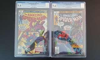 Amazing Spider-man #179 CGC 9.4, #180 CGC 9.6 (1978 1st Series) Set Of 2- Spidey Vs The Green Goblin! Final Issue For Len Wein Run On ASM! Rare Books!