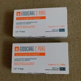 Endocare C Pure Concentrate 維他命C亮白修復精華 1ml 試用裝 有2盒, $25一盒