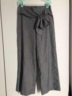 Editor's Market Grey wide-leg work pants