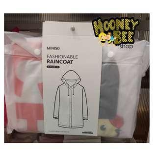 Original Miniso - Jas Hujan Dewasa Adult Fashionable Raincoat