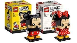 LEGO 41624 + 41625: Disney Mickey and Minnie Mouse Brickheadz